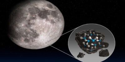 Ice on the Moon's boiling surface